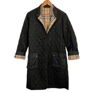 BURBERRY Diamond Quilted Nova Check Lined Jacket